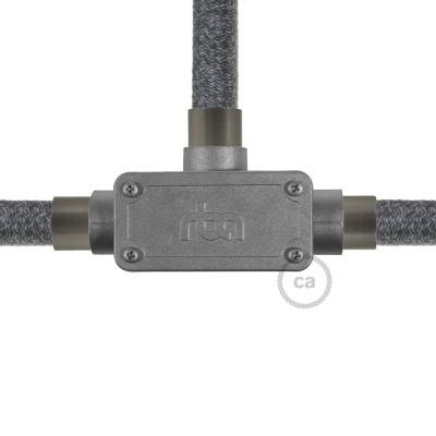 T-förmige Auslassverbindung mit drei Ausgängen für Creative-Tube, Aluminiumgehäuse