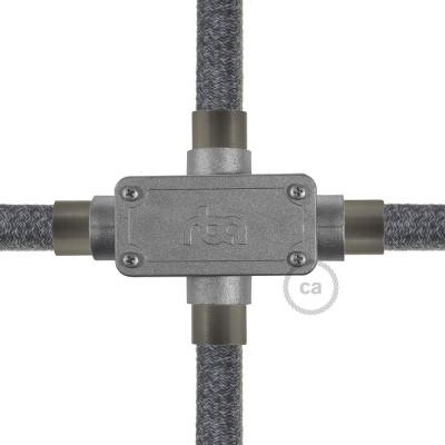 X-förmige Auslassverbindung mit vier Ausgängen für Creative-Tube, Aluminiumgehäuse