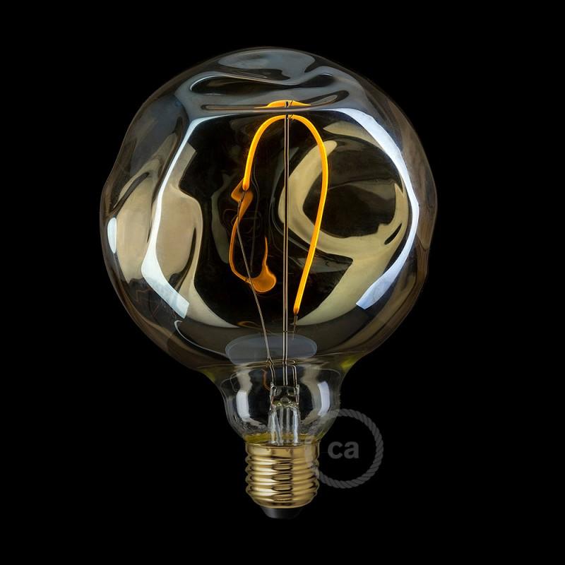 Glühbirne Deko glühbirne gold globo g125 mit unebenmäßiger oberfläche