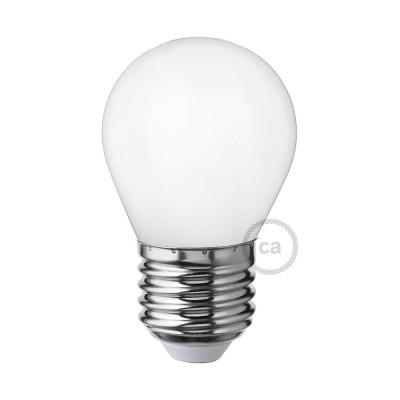 LED-Glühbirne Milchglas mini Globo G45 4W E27 dimmbar 2700K