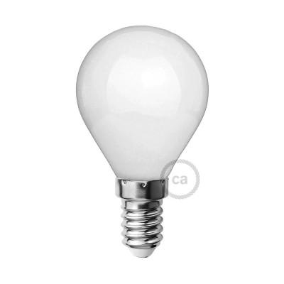 LED-Glühbirne Milchglas mini Globo G45 4W E14 dimmbar 2700K