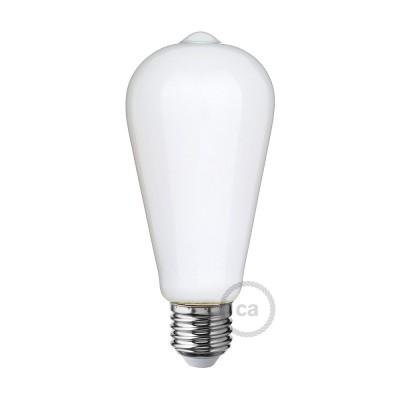 LED-Glühbirne Milchglas Edison ST64 6W E27 dimmbar 2700K
