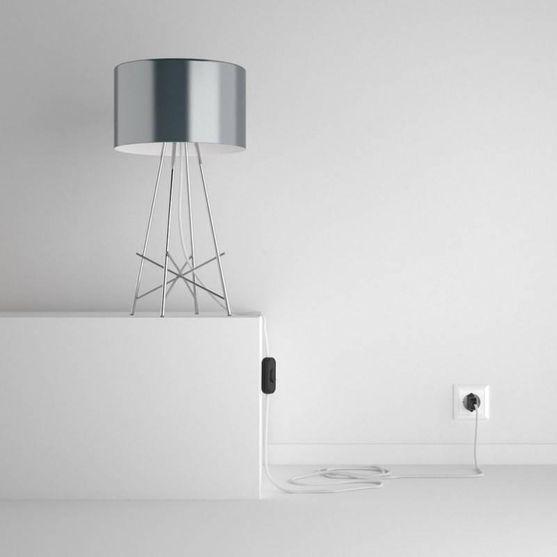 snakebis leuchten zuleitung mit textilkabel wei baumwolle rc01. Black Bedroom Furniture Sets. Home Design Ideas