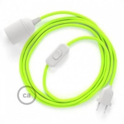 SnakeBis Leuchten-Zuleitung mit Textilkabel Gelb Fluo RF10