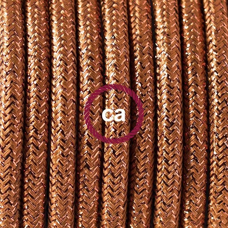 SnakeBis Leuchten-Zuleitung mit Textilkabel Geglittert Kupfer RL22