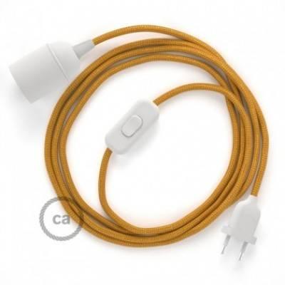 SnakeBis Leuchten-Zuleitung mit Textilkabel Gold Seideneffekt RM05