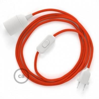 SnakeBis Leuchten-Zuleitung mit Textilkabel Orange Seideneffekt RM15