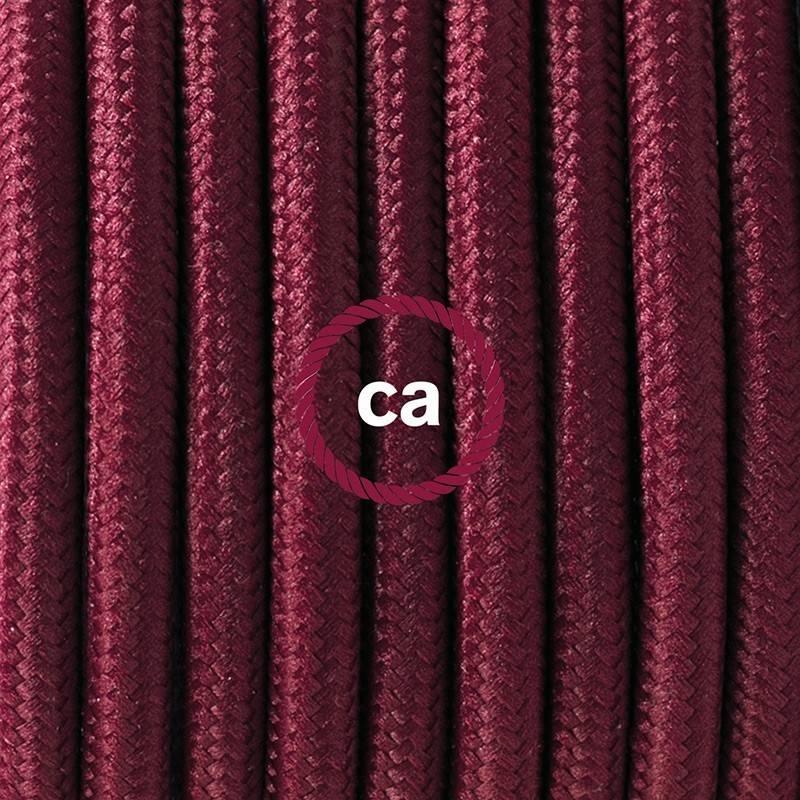 SnakeBis Leuchten-Zuleitung mit Textilkabel Bordeaux Seideneffekt RM19