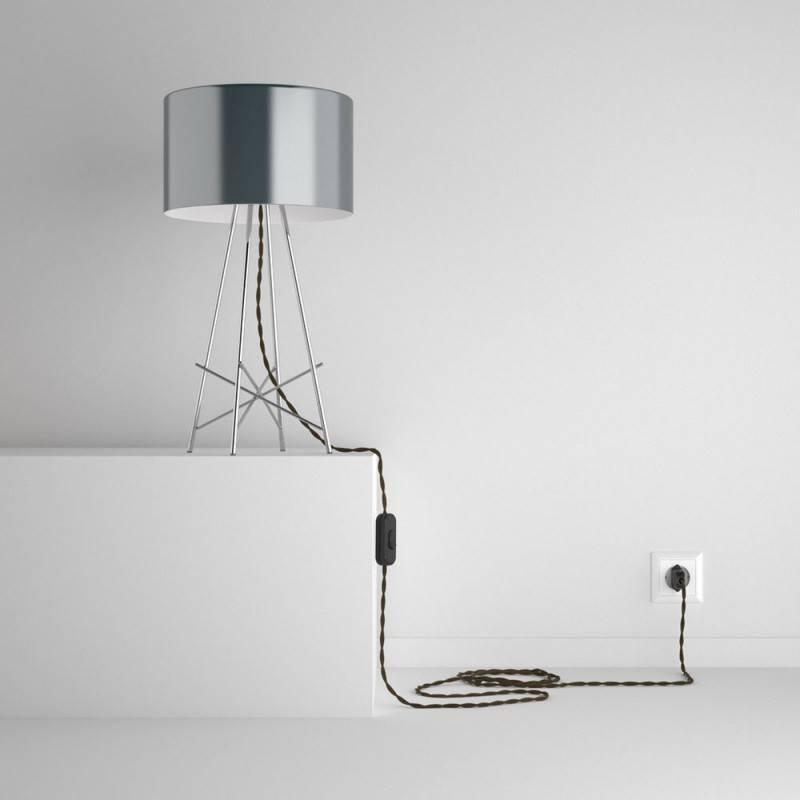 snakebis leuchten zuleitung mit textilkabel braun baumwolle tc13. Black Bedroom Furniture Sets. Home Design Ideas