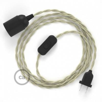 SnakeBis Leuchten-Zuleitung mit Textilkabel Dove Baumwolle TC43