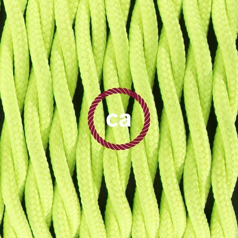 SnakeBis Leuchten-Zuleitung mit Textilkabel Gelb Fluo TF10