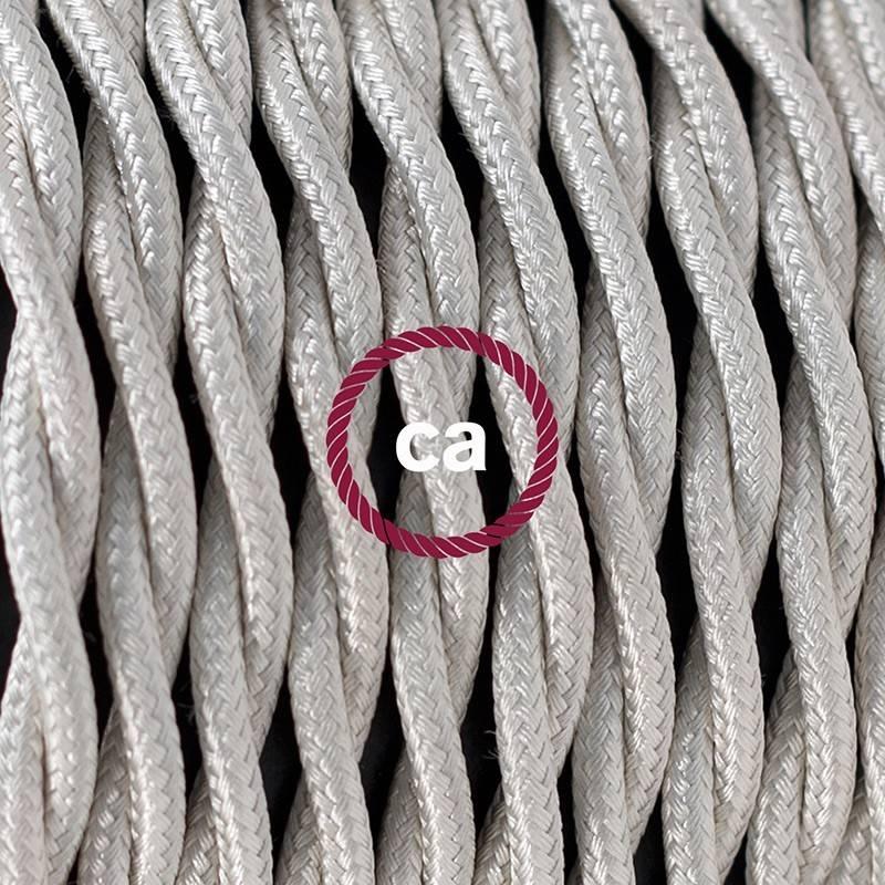 SnakeBis Leuchten-Zuleitung mit Textilkabel Ivory Seideneffekt TM00