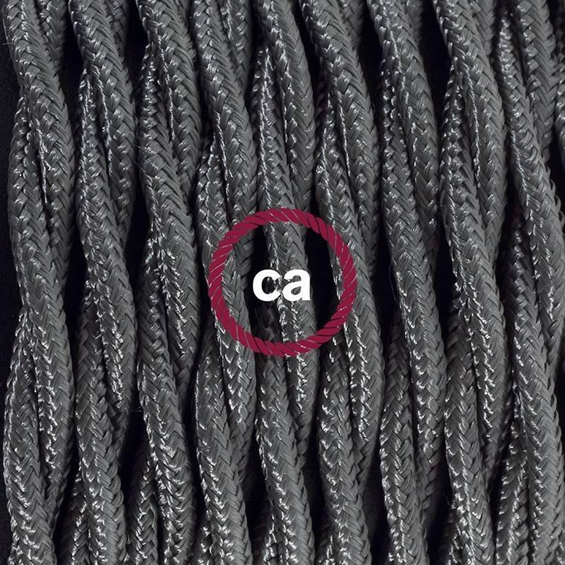 SnakeBis Leuchten-Zuleitung mit Textilkabel Dunkelgrau Seideneffekt TM26