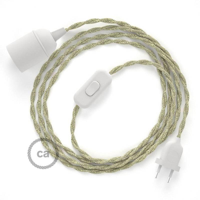 SnakeBis Leuchten-Zuleitung mit Textilkabel Natürlichem Leinen TN01