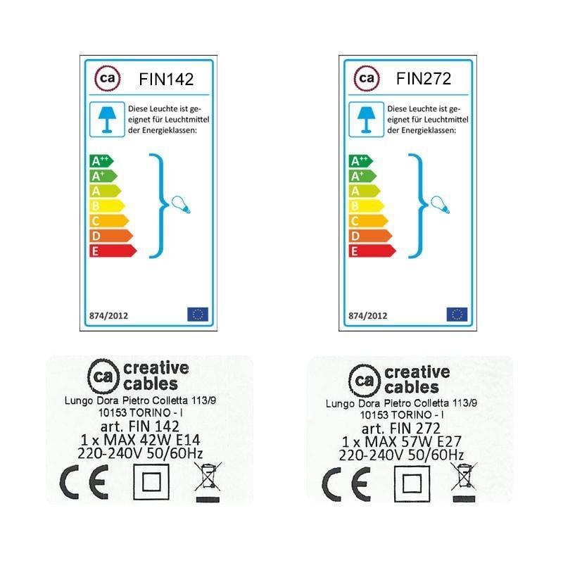 SnakeBis Leuchten-Zuleitung mit Textilkabel Antrazit Natürlichem Leinen TN03