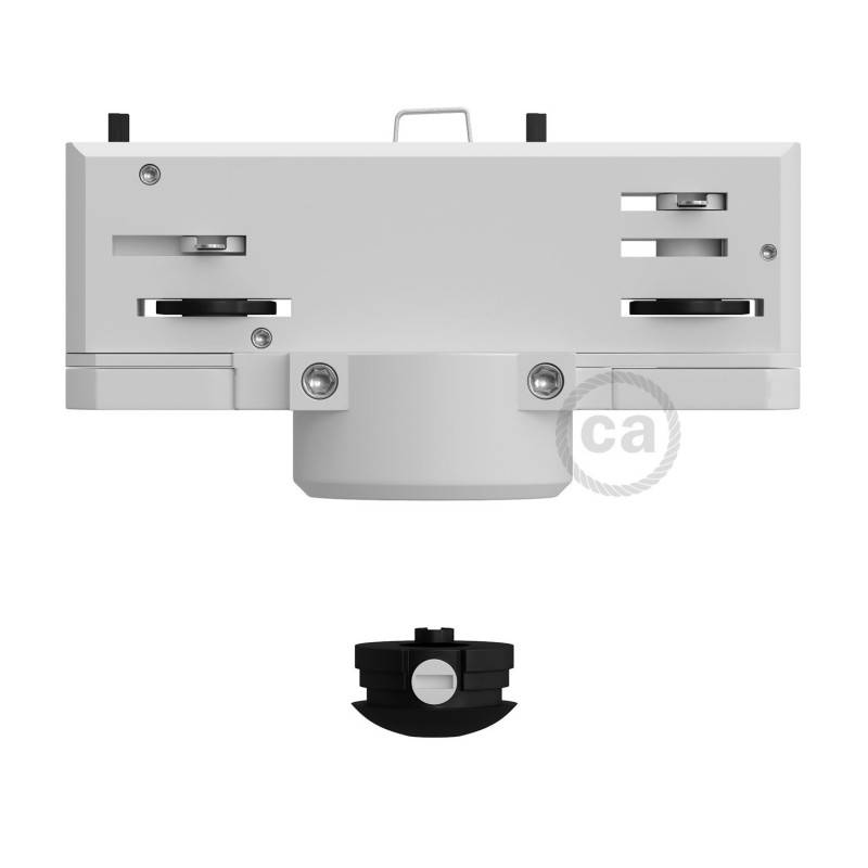 Multi Eutrac-Aufhängeadapter für dreiphasige Schiene in weißer Farbe