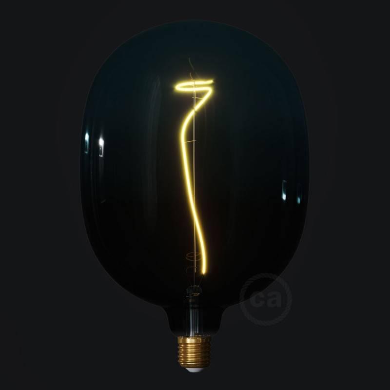 LED-Glühbirne XXL Egg Abenddämmerung (Dusk) geschwungenes Filament 4W E27 dimmbar 2200K