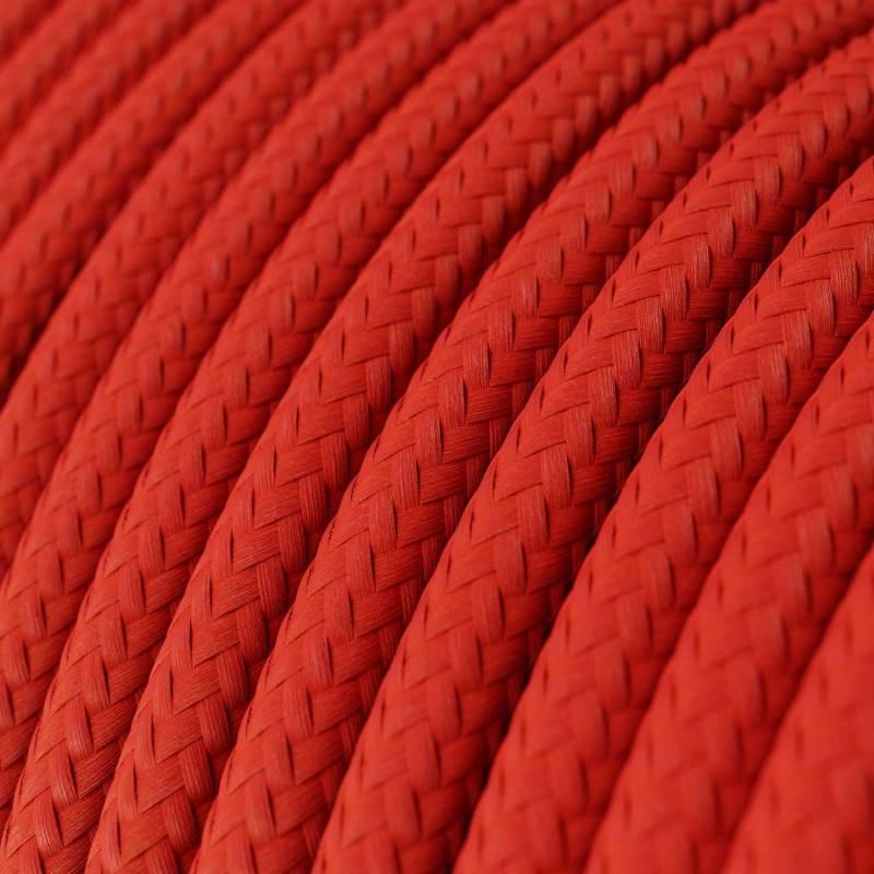 Textilkabel rund, rot mit Seideneffekt, RM09