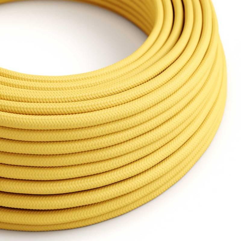 Textilkabel rund, gelb mit Seideneffekt, RM10