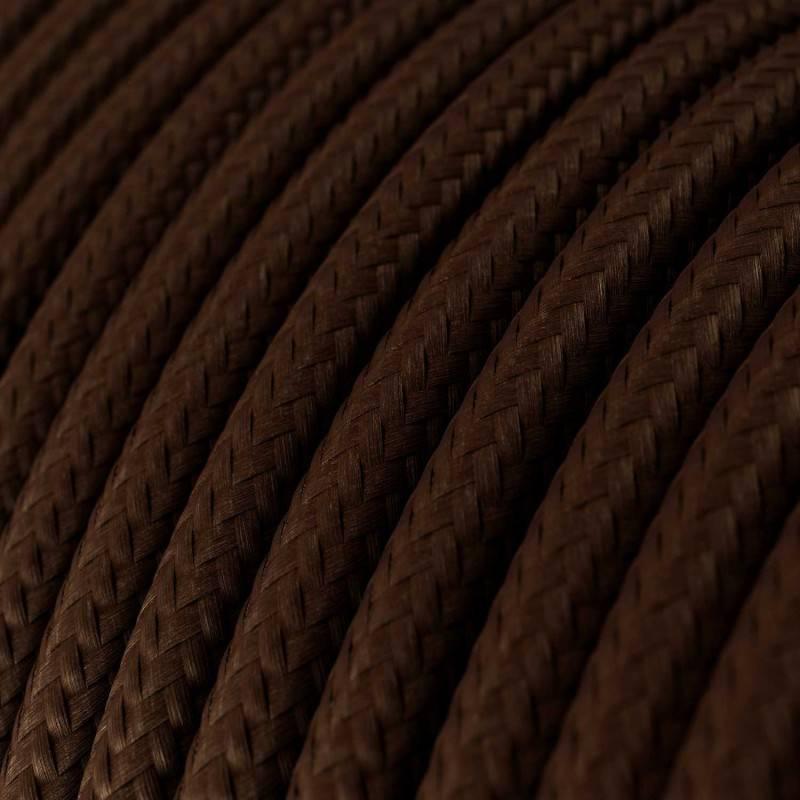 Textilkabel rund, braun mit Seideneffekt, RM13