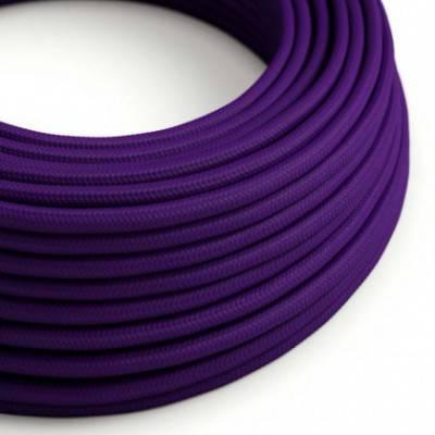 Textilkabel rund, violett mit Seideneffekt, RM14