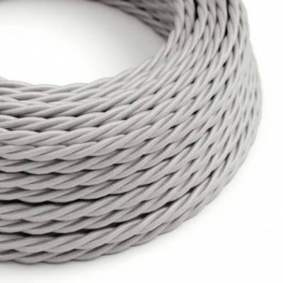 Textilkabel geflochten, silber mit Seideneffekt, TM02