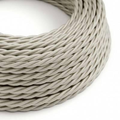 Textilkabel geflochten, elfenbein mit Seideneffekt, TM00