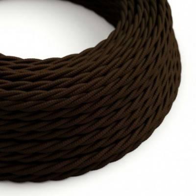 Textilkabel geflochten, braun mit Seideneffekt, TM13