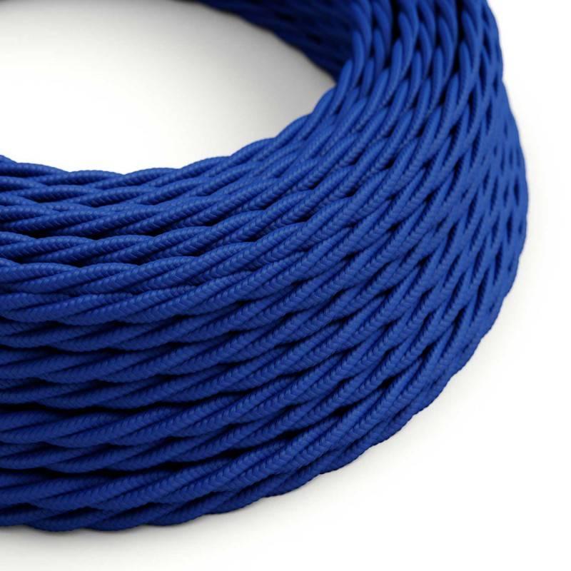 Textilkabel geflochten, blau mit Seideneffekt, TM12
