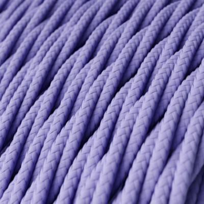 Textilkabel geflochten, lila mit Seideneffekt, TM07