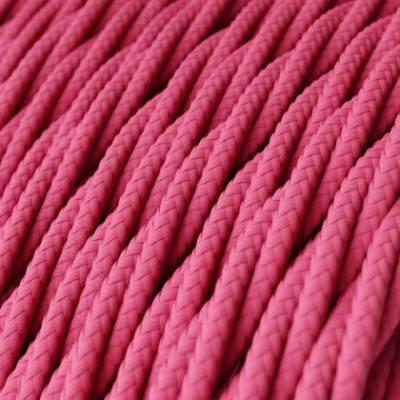 Textilkabel geflochten, fuchsia mit Seideneffekt, TM08