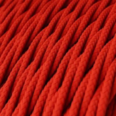 Textilkabel geflochten, rot mit Seideneffekt, TM09