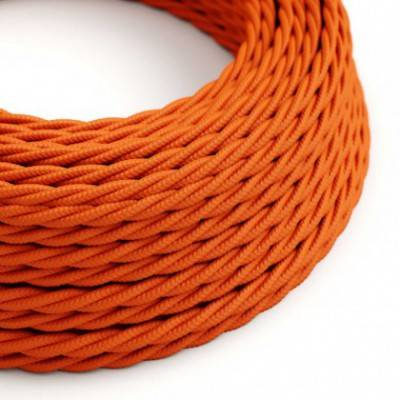 Textilkabel geflochten, orange mit Seideneffekt, TM15