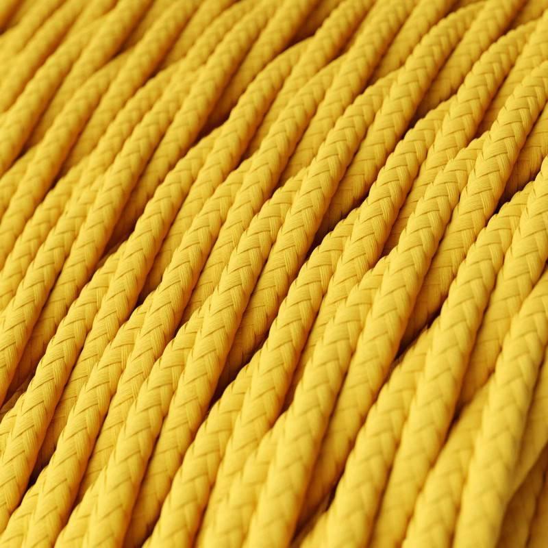 Textilkabel geflochten, gelb mit Seideneffekt, TM10