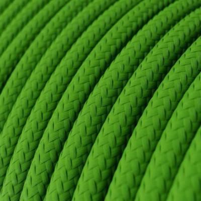 Textilkabel rund, lime grün mit Seideneffekt, RM18