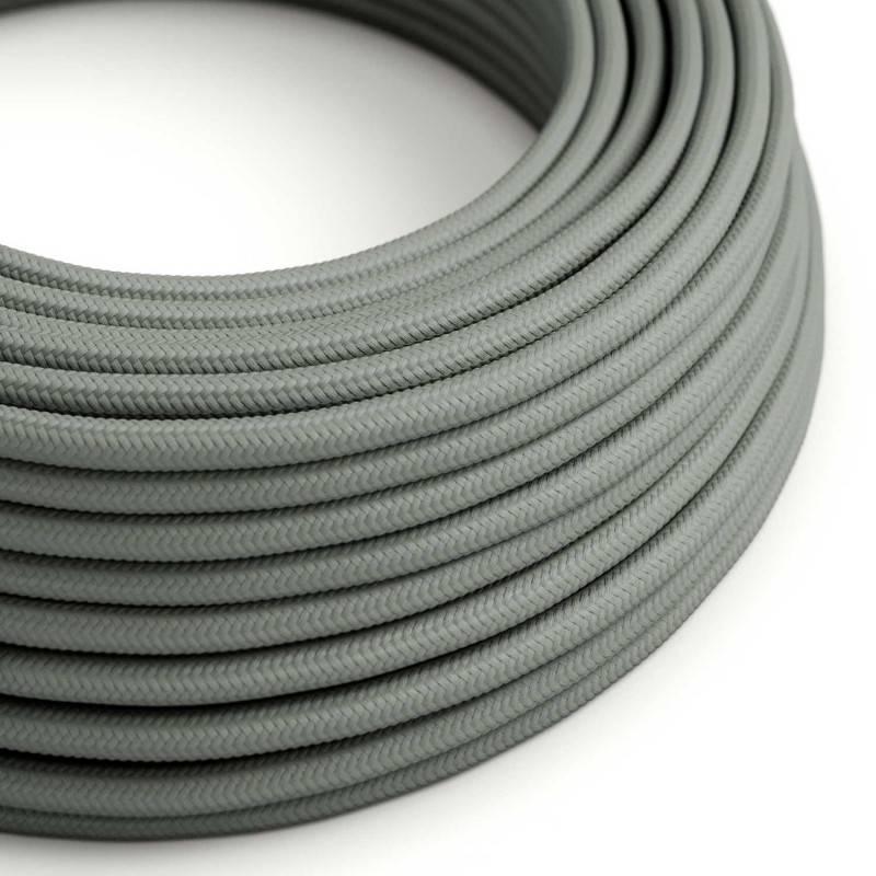 Textilkabel rund, grau mit Seideneffekt, RM03