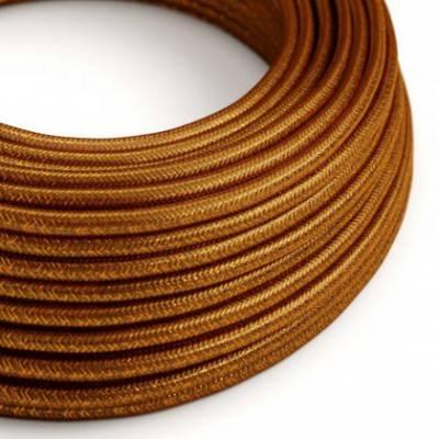 Textilkabel geflochten, kupfer glitzer Seideneffekt, RL22
