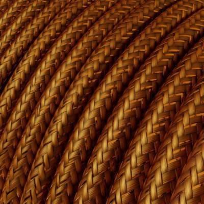 Textilkabel rund, kupfer glitzer Seideneffekt, RL22