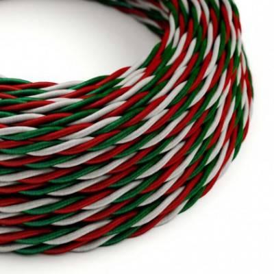 Textilkabel rund, italien mit Seideneffekt