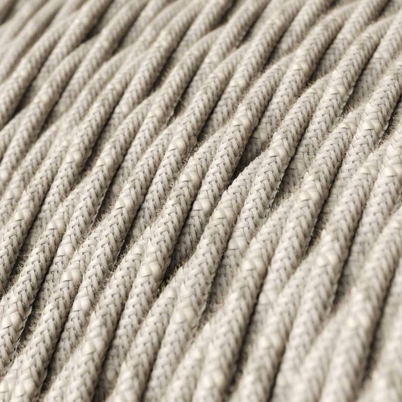 Textilkabel geflochten, neutral natürliche Leine, TN01
