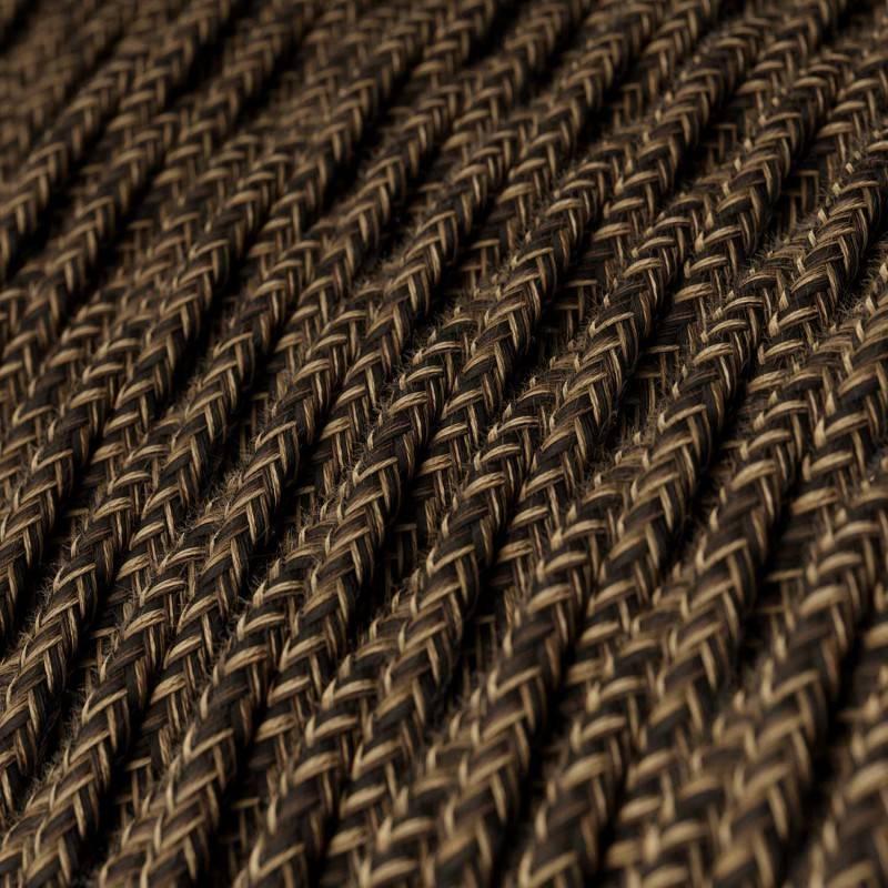 Textilkabel geflochten, braun natürliche Leine, TN04
