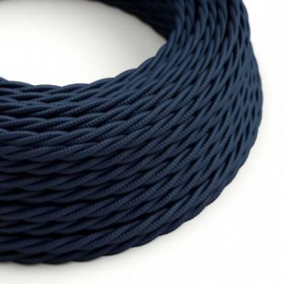 Textilkabel geflochten, dunkelblau Seideneffekt, TM20