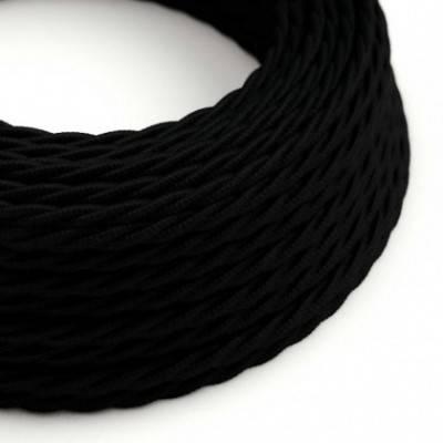 Textilkabel geflochten, schwarz Baumwolle, TC04
