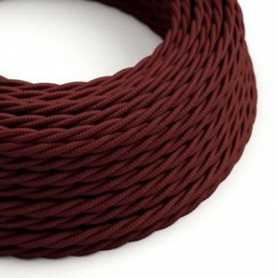 Textilkabel geflochten, bordeaux mit Seideneffekt, TM19