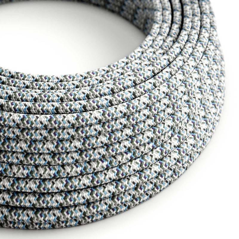 Textilkabel rund, Pixel Eis mit Seideneffekt, RX04