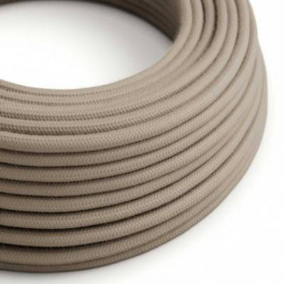 Textilkabel rund, taubengrau Baumwolle, RC43