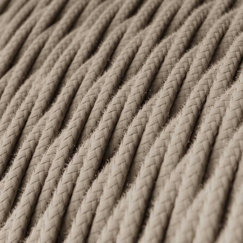 Textilkabel geflochten, taubengrau Baumwolle, TC43