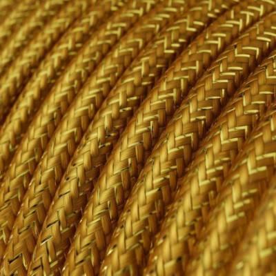 Textilkabel rund, gold glitzer mit Seideneffekt, RL05