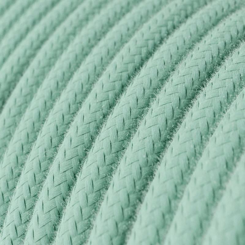 Textilkabel rund, minze Baumwolle, RC34