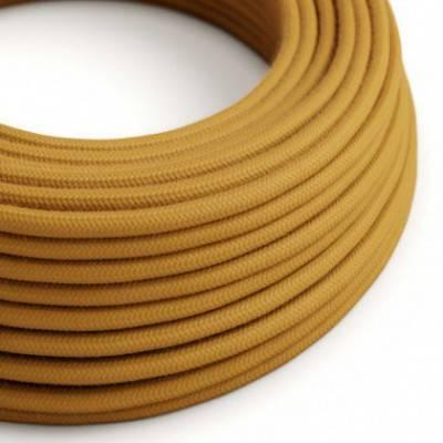 Textilkabel rund, golden Honig Baumwolle, RC31